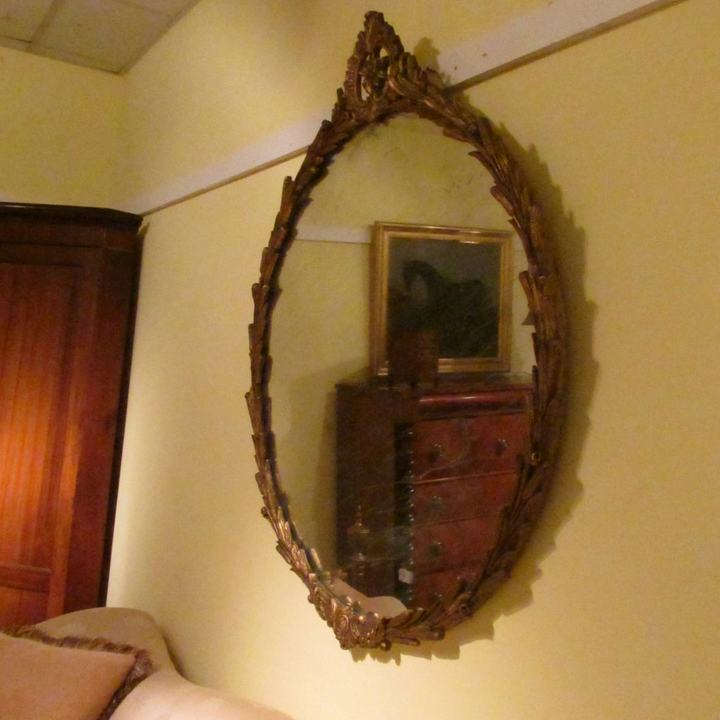 19thc French Gilt Mirror  SOLD