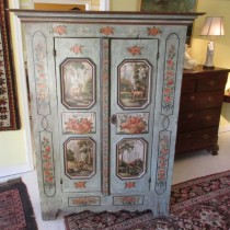 19th c Painted Austrian Cupboard