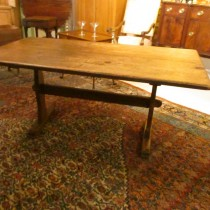 19th c Pine Trestle Table  SOLD