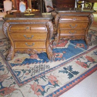Pair of Marble Top Chest by AICO Company