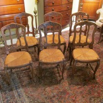 Set of 6 Country French Chairs