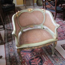 Painted and Giltwood French Chair