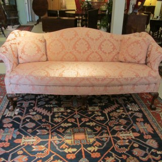 Chippendale-style Camel Back Sofa
