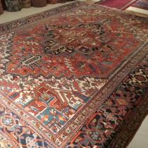 Antique Persian Heriz 9.3 x 11.6