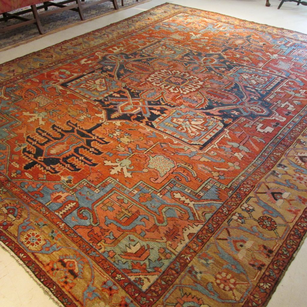 Antique Persian Heriz  9.8 x 12.7