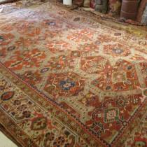 Antique Persian Heriz 9 x 12.2