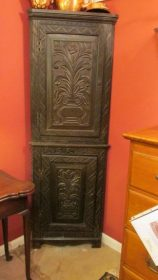 18th c English Corner Cupboard