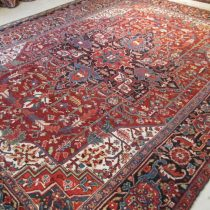 Antique Persian Heriz  8.6 x 11
