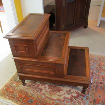 19th c American Oak Bed Steps   SOLD