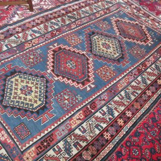 19th c Caucasian Shirvan 4.5 x 7.4 SOLD
