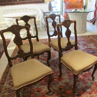 Set of 4 18th c English Dining Chairs