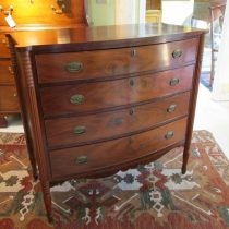 early 19th c Flamed Mahogany Federal Chest of Drawers  SOLD
