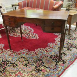 19th c Sheraton Mahogany Desk