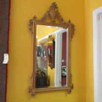 Mid 20th c Fruitwood Mirror