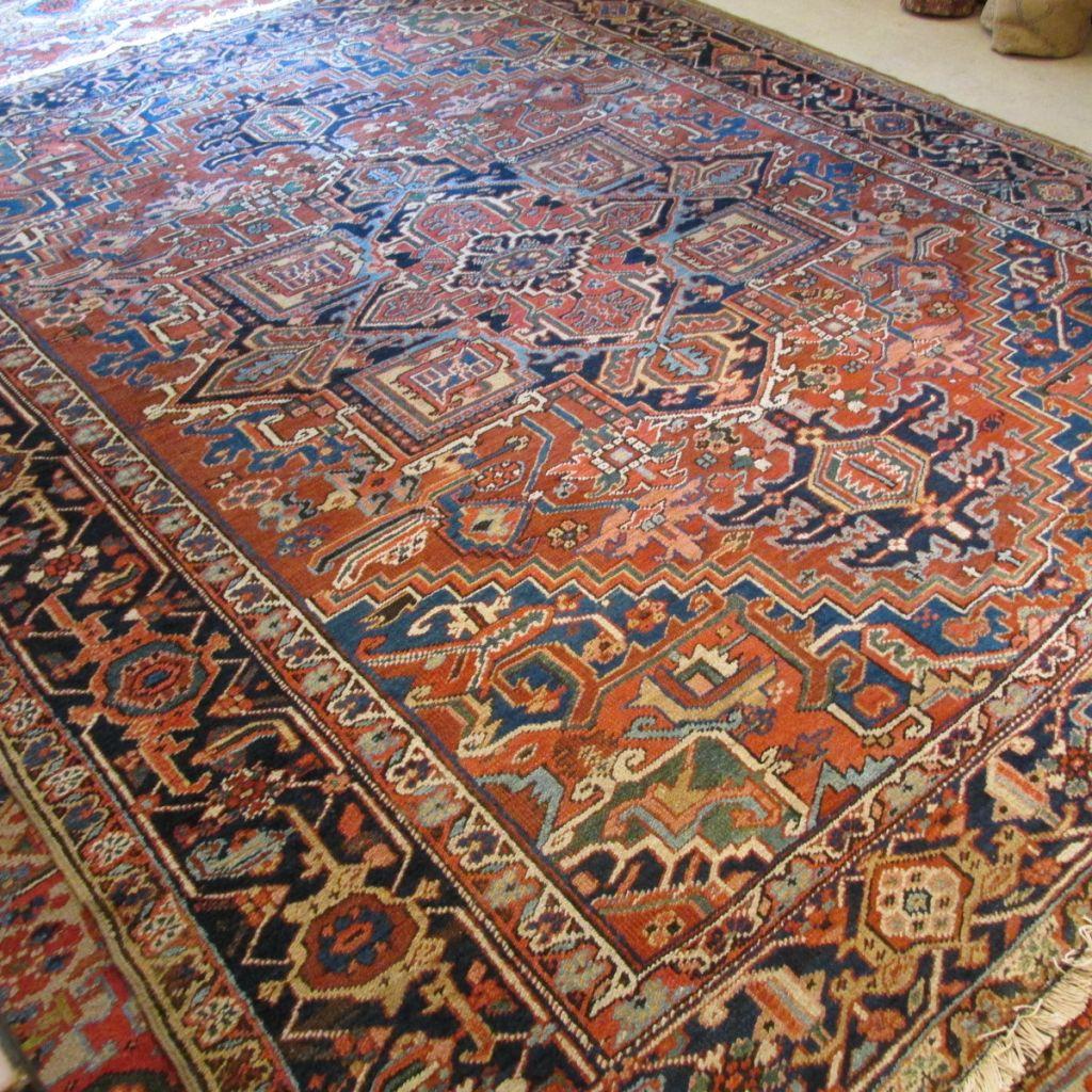 19th c Persian Heriz  7.9 x 9.4