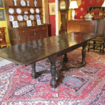 18th c Oak Elizabethan Draw Leaf Table