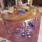 E 20th c Walnut Wine Tasting Table