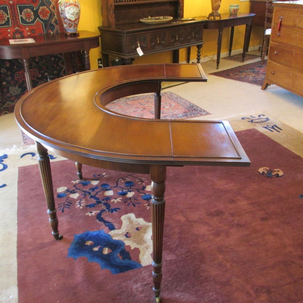 early 20th c Walnut Circular Desk
