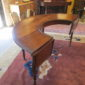 early 20th c Walnut Circular Desk