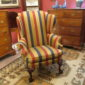 Chippendale-Style Wing Armchair