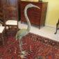 Pair of 19th c Bronze Cranes