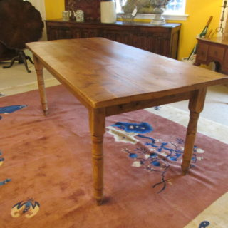 19th c American Pine Farm Table SOLD