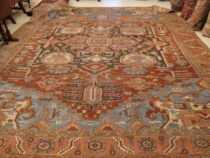 Antique Persian Heriz  10.4 x 12.2    SOLD