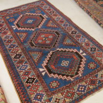 Antique Caucasian Kazak  4 x 6.2