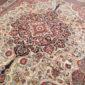 Antique Persian Laver Kerman 8.7 x 10.1
