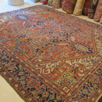 Antique Persian Heriz  10.1 x 12