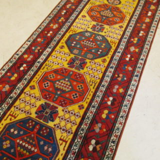 Antique Caucasian Kazak  3.3 x 10.11