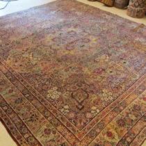 Antique Persian Laver Kerman  9 x 10.2