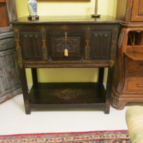 17th c Oak Court Cupboard
