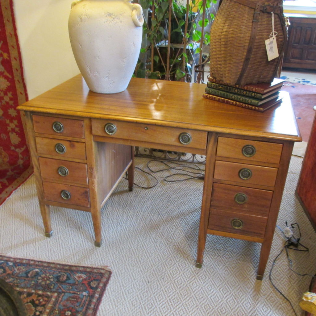 Early 20th c  English Mahogany Desk