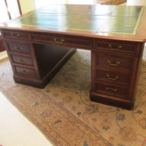 19th c English Mahogany Partners Desk   SOLD