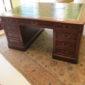 19th c English Mahogany Partners Desk   SOLD