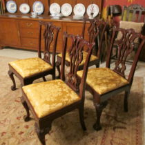 Set of Four Chippendale Chairs by Kindel SOLD
