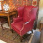 Mid 20th c Leather Wingback Chairs