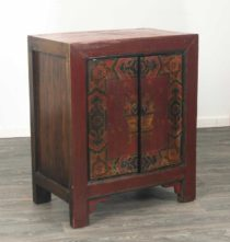 19thc Painted Tibetan Cabinet