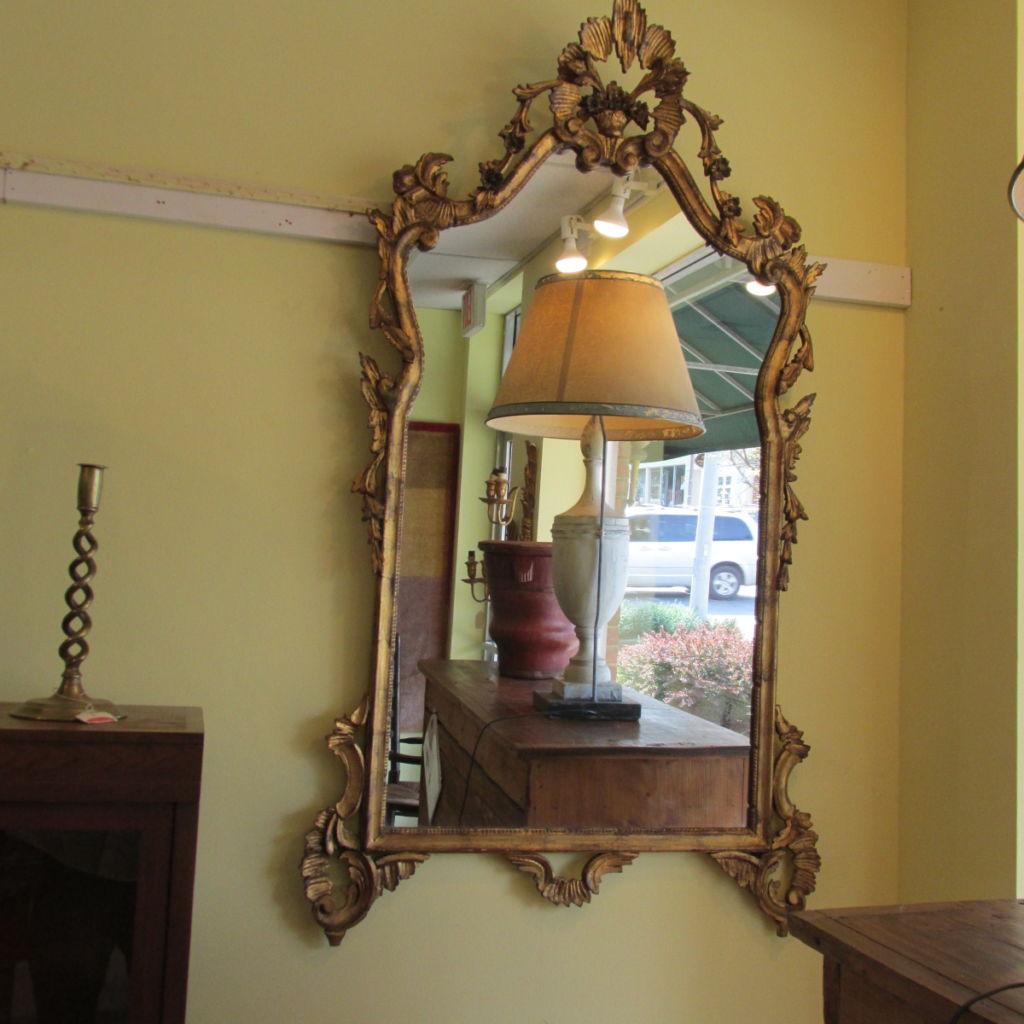 19th c English Giltwood Mirror  SOLD