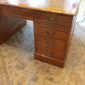 English  Yew Wood Pedestal Desk