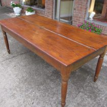 19th c American Pine Farm Table
