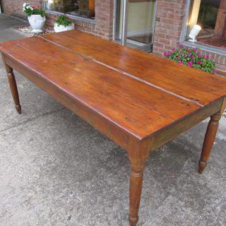19th c American Pine Farm Table