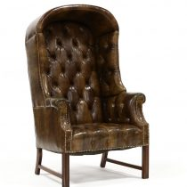 Leather Chesterfield Porters Wing back Chair