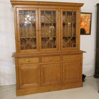 English Pine Breakfront/Bookcase
