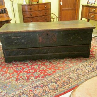 mid 19th c American Painted Chest