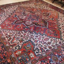 Antique Persian Heriz,9.6 x 10.8