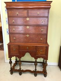 18th c American William and Mary Mahogany Highboy