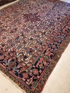Antique Persian Heriz 7.6 x 9.8