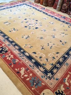Chinese Art Deco Nichols Carpet 8.10 x 11.10